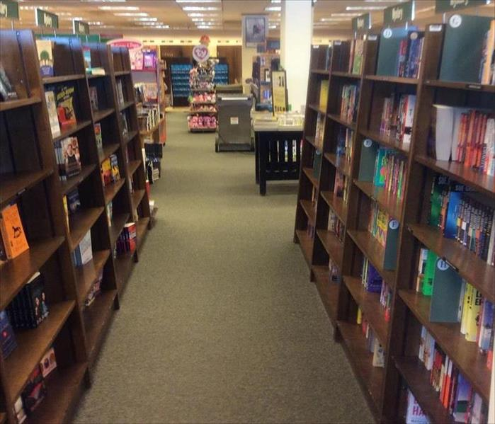 Water Damage in Elburn Book Store After