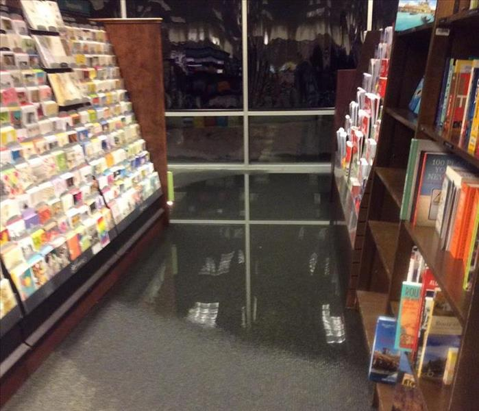 Water Damage in Elburn Book Store Before